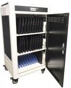 Chariot multimédia 30 tablettes ou PC portables 15,6'' - Dimensions (H x L x P) : 1350 x 730 x 590 mm
