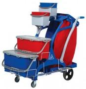 Chariot nettoyage professionnel multi usage - Dimensions chariot (LxIxH) en cm :  111 x 122 x 59