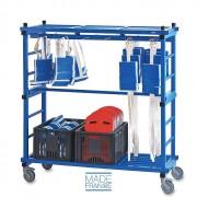 Chariot piscine porte ceintures - Dimensions : 150 x 60 x 170 cm