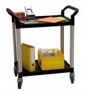 Chariot plateaux plastique de bureaux - Charge utile (Kg) : 250