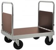 Chariot plateforme 2 dossiers - Electro-galvanisé avec plate-forme stratifiée - Capacité : 800 Kg