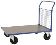 Chariot plateforme à dossier grillagé - Hauteur de la plate-forme : 260 mm - Capacité : 500 Kg