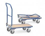 Chariot pliable à dossier rabattable - Charge (kg) : 250 - Norme européenne EN 1757-3
