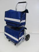 Chariot pliable pour courriers - Dimension du chariot (mm) : 400 x 300 x 280