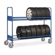 Chariot pneumatique 2 niveaux - Charge : 250 - 400 - 500 kg