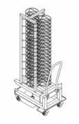 Chariot porte-assiettes professionnel - Capacité : 60 ou 100 assiettes - En acier inox