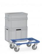 Chariot porte bacs plastique - Charge (kg) : 250 -  Norme EN 1757-3