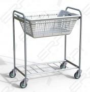 Chariot porte corbeille - Dimensions extérieures (LxPxH) : 550x950x1000 mm