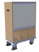 Chariot porte-documents avec 9 casiers - Capacité de charge : 400 kg