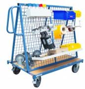 Chariot porte-outils grillagé - Charge utile (Kg) : 500
