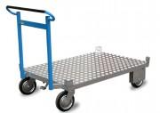 Chariot porte palettes à dossier - Chariot porte palette avec frein - Capacité : 500 kg