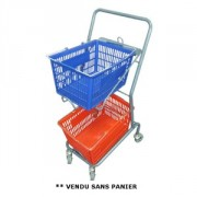 Chariot porte panier 50 kg - Porte panier emboîtable