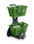 Chariot porte panier recyclable - Produit 100 % recyclable