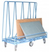 Chariot porte panneaux 6 roues - Charge utile (Kg) : 1200