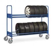 Chariot porte pneus 2 étages - Charge: 500 Kg