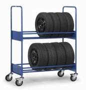 Chariot porte pneus - Charge (Kg) : 250 - EN 1757-3