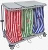 Chariot porte sac à linge et déchet - De 1 à 4 sacs - Capacité : de 60 à 80L