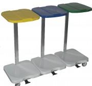 Chariot porte-sac en aluminium - Ouverture du couvercle à 60°