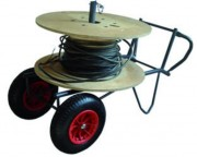 Chariot porte touret - 2 Types de roues : Pneumatiques ou étoiles monte escaliers