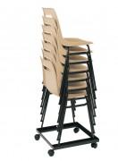 Chariot pour 18 chaises - Dimensions (cm) : 52 x 52 - 55 x 50 -60 x 52