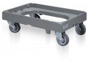 Chariot pour bac norme Europe - Dim: L.600 x lg.400 x H.188 mm - Capacité : 250 kg - Poids : 4,2 kg