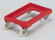 Chariot pour bacs à chape inox - Dim. ext. (L x l x h) : 604 x 402 x 162 mm