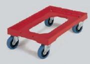 Chariot pour bacs roues fixes et pivotantes - Charge : 250 kg