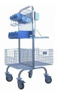 Chariot pour bloc opératoire - Inox - Niveaux d'accessoires : 4 - 6 ou 8 accessoires