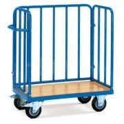 Chariot pour colis à ridelles - Capacité de charge : 400 ou 500 Kg