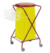 Chariot pour collecte des déchets - Dimension (L x h x l) mm : 620 x 1025 x 560