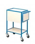 Chariot pour dossiers médicaux - Dimensions (Lxlxh) : 79 x 47x 98 cm