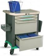 Chariot pour dossiers medicaux et radios - L : 85 x H : 96,9 x P : 59,5 cm