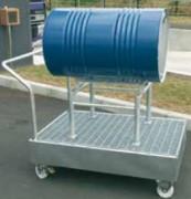 Chariot pour fûts à support de soutirage - Pour 2 fûts de 220 litres