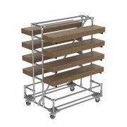 Chariot pour le stockage et le transport de longueur - Cantilever pour petites charges longues