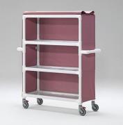 Chariot pour le transport du linge sale et propre - Nombre d'étagères : 4