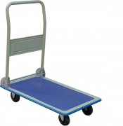 Chariot pour préparation de commandes rabattables - Charge max: 300 Kg  -  En acier ou aluminium