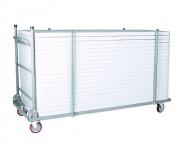 Chariot pour table regtangulaire polyéthylene - Chariot de Transport