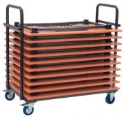 Chariot pour table traiteur regtangulaire - Chariot de Transport