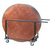 Chariot pour table traiteur ronde - Chariot de Transport