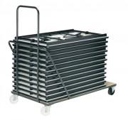 Chariot pour tables pliantes - Longueurs (cm) : 120 ou 180
