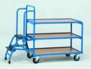 Chariot préparateur de commande pivotant - Charge (kg) : 250 ou 300