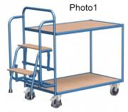Chariot préparateur de commandes - Capacité de charge : 250 kg