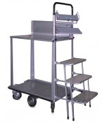 Chariot préparation commandes à supports moniteur et clavier - Capacité de charge : 200 kg