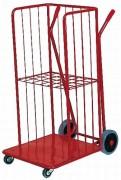 Chariot remise en rayons - Panneaux grillagés - charge de 100 kg - (L x l x H) : 110 x 46 x 50 cm