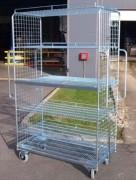 Chariot roll grillagé mise en rayon - Capacité de charge (kg) : 500