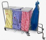 Chariot sac à linge et déchet - De 1 à 4 sacs - Capacité : de 60 à 80L