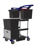Chariot santécompact - Dimensions (L x l x h) : 64 x 44,5 x 95 cm