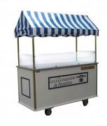 Chariot snack ambulant personnalisable - Dimensions : 1 700 x 700  mm - Hauteur 1 000 mm