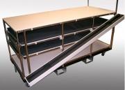 Chariot spécial charges longues - En profilé aluminium - Mécano soudé