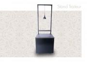 Chariot Stand Traiteur - Stand ambulant inox design modulable et démontable